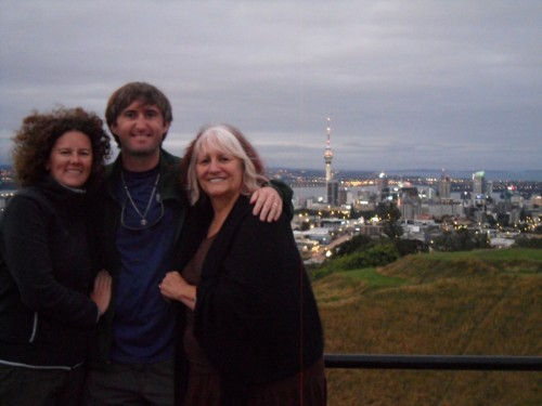 Mount Eden and the Sky Tower, Auckland, New Zealand